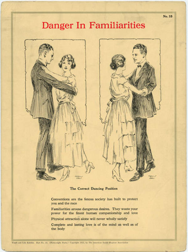 Danger in familiarities, created 1922, Contributor is American Social Health Association
